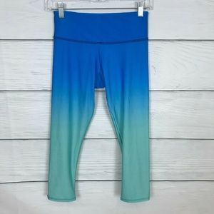 Onzie Graphic Capri Indian Blue Ombre Legging XS